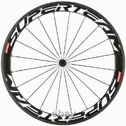Superteam 50mm Carbon Wheels Road Bike Bicycle Clincher Wheelset US In Stock