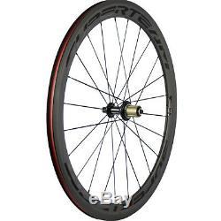 Superteam 50mm Carbon Wheelset Road Bike Racing Cycle Wheels 700C Carbon Wheels