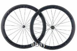 Superteam Carbon 50mm Wheel Road Bike 700c Clincher DT Swiss Hub Internal Spoke