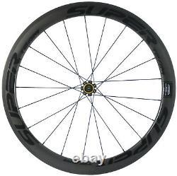 Superteam Carbon Wheels Road Bike 25mm Width Wheelset 50mm Ceramic Bearing Wheel