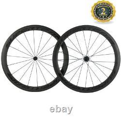 Superteam Carbon Wheelset R7 Hub 50mm Clincher Road Bike Wheels Matte Finsh New