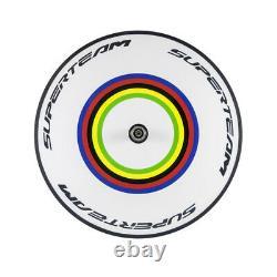 Superteam Clincher Carbon Wheelset Front Five Spoke+Rear Road/track Disc Wheels