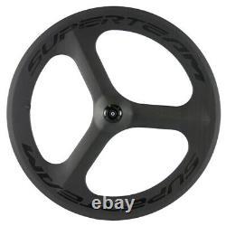 Superteam Clincher Tri Spoke Carbon Wheel Only 700C Wheel Rear Road Bike Wheel