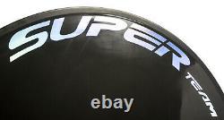 Superteam Disc Rear Wheel 700C Road/Track Bike Carbon Disc Rear Wheel Chrome UD
