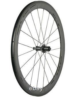 Superteam Light Weight Carbon Wheels 50mm Road Bike Cycle Wheelset 700C R7 Hub