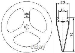 Tri Spoke Carbon Wheelset Road/Track Bike Clincher 70mm Front+Rear Wheels 700C