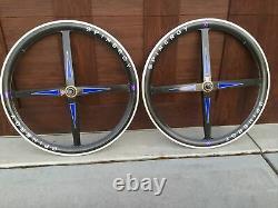 Vintage 700c SPINERGY REV X CARBON 8/9/10 Clincher Road Bike Wheels Wheelset