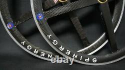 Vintage SPINERGY REV X CARBON 8/9/10s tubular Road Bike Wheels 700c Wheelset