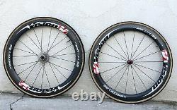 Vision Metron 55 SL Carbon Road Bike Tubular Rim Brake Wheel Set 11 sp Ceramic