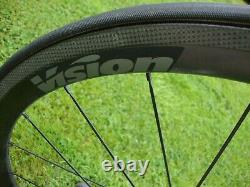 Vision Trimax 40 Ltd Road Bike Cycling Front & Rear Carbon Wheels Sram/Shimano