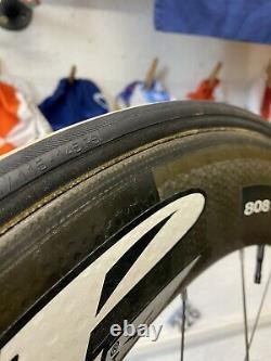 ZIPP 808 CARBON FIBRE TUBULAR REAR WHEEL Road Bike TT Campagnolo 11 speed