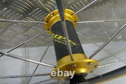 Zipp 440 carbon aero tubular front wheel