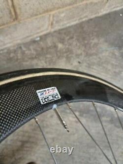 Zipp tubular track wheels front road carbon wheelset